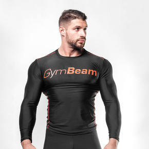 GymBeam Kompresijska majica Black/Red XL